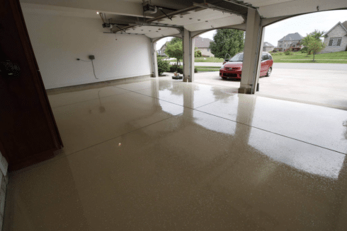 three car epoxy garage austin