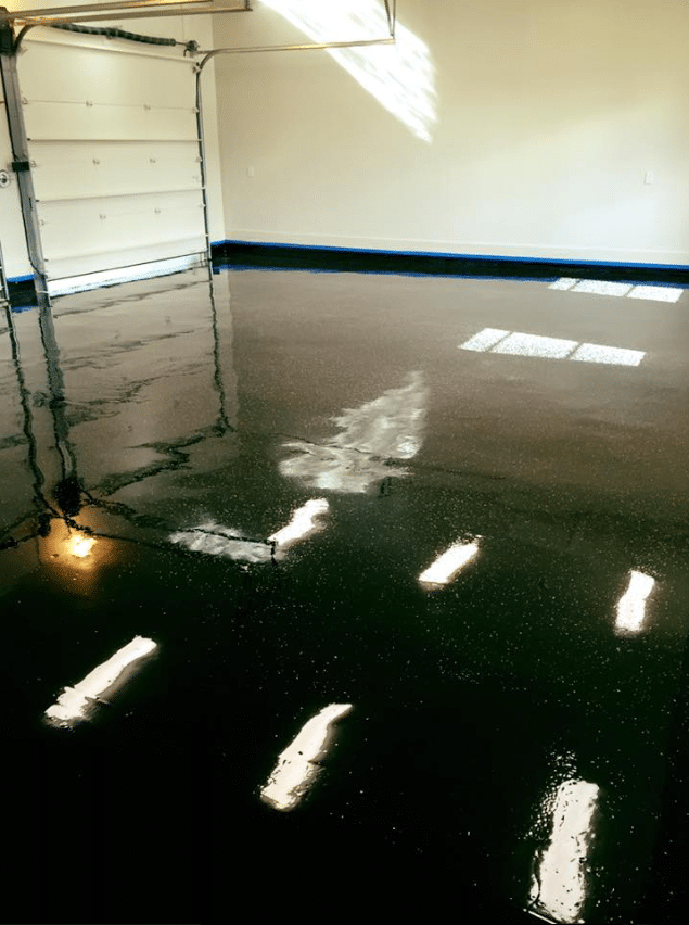 black epoxy garage floor austin tx