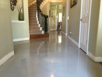 solid epoxy coating in home