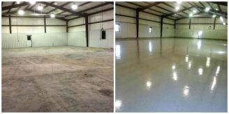 commercial garage before/after