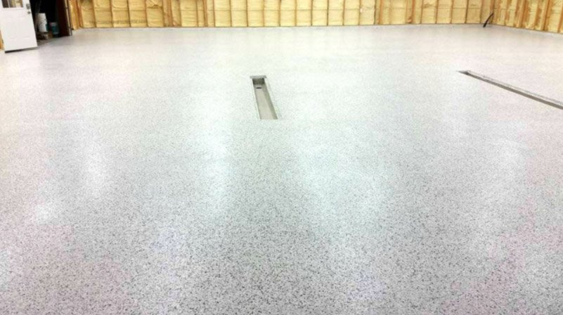 flake and chip epoxy garage floor in austin