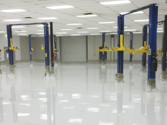 industrial epoxy garage coating in garage