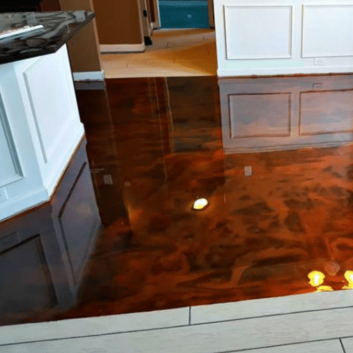 metallic kitchen epoxy floors