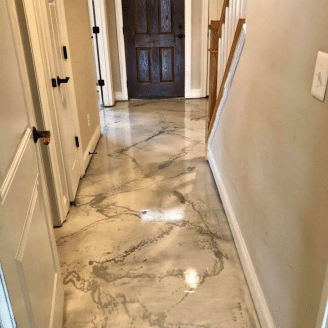 marble epoxy coating hallway