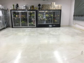 epoxy coating in retail store